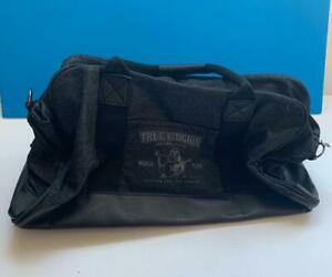 True Religion Travel Black Canvas Duffle Bag with handles NEW Retail Value $148