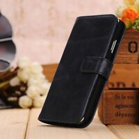 Leather Wallet Case Flip Cover For Samsung Galaxy S4 in Blue