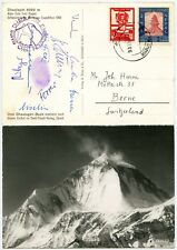 SIGNED MOUNTAINEERING NEPAL 1960 SWISS EXPED. DHAULAGIRI SHERPA + CLIMBERS...L2