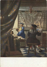 Alte Kunstpostkarte - Jan van der Meer - Der Maler in seinem Atelier
