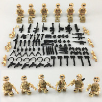 SET 6PCS Red Sea Special military Soldier Army Weapon Gun SWAT  Lego Toys Custom