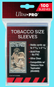100 ULTRA PRO TOBACCO SIZE SOFT CARD SLEEVES Trading Sports Allen Ginter T-206