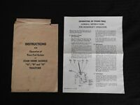 "1947 JOHN DEERE A B G TRACTOR ""POWR-TROL"" OPERATORS MANUAL WITH ENVELOPE CLEAN"