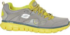 SKECHERS Sport Women's Synergy Memory Sole Trainers, Gray/Yellow UK 2 / EU 35