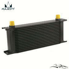 "16 Row 8AN Universal Engine Transmission Oil Cooler 3/4""UNF16 AN-8 Black"