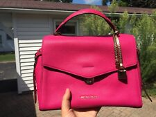 NWT Michael Kors Bristol MD Leather Satchel Handbag/ Crossbody Ultra Pink