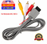 Audio Video AV Composite 3 RCA Cable for Nintendo Wii / Wii U NEW US SELLER