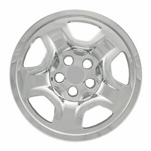 "16"" Chrome Wheel Skins Covers FOR 15-18 Jeep Renegade & 17-19 Compass Sport (x4)"