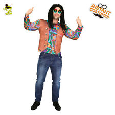 Adult Cool Hippie Costume Men Carnival Party 3D Digital Printed Hippie T-Shirt