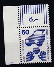 Berlin Unfall MiNr. 409  Eckrand-o.li DZ 1, postfrisch