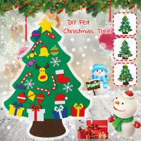3 Arten Kinder DIY Filz Weihnachtsbaum Set mit Ornamenten Wandbehang  J K
