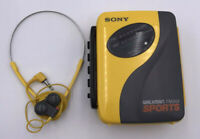 Sony Walkman Sports FM AM Cassette Player WM-SXF30 Auto Reverse w Sony Headphone