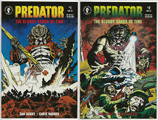 PREDATOR: THE BLOODY SANDS OF TIME #1-2 COMPLETE SET Near Mint DARK HORSE 1992