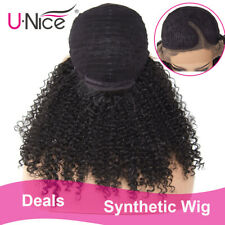 16inch Short Hair Kinky Curly Wig Synthetic Lace Front Wig African American Wigs
