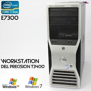 Pro Work Station Dell Precision T3400 Computer PC Parallel Lpt RS-232 Server Ok