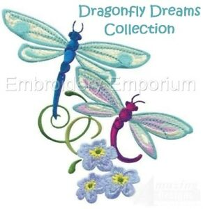 DRAGONFLY DREAMS COLLECTION - MACHINE EMBROIDERY DESIGNS ON CD OR USB
