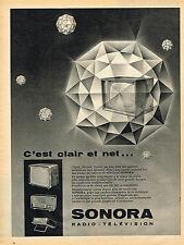 PUBLICITE ADVERTISING 124  1959  SONORA   radio-télévision