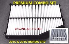 Premium Combo set Engine & CARBONIZED Cabin Air Filter for 2015 2016 Honda CRV