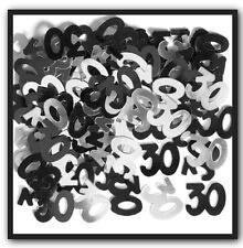 Unique Party 55224 - Glitz Black Foil 30th Birthday Confetti
