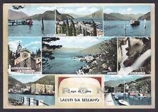 LECCO BELLANO 34 SALUTI da... VEDUTINE Cartolina FOTOGRAFICA viaggiata 1963