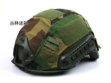 Tactical Series Airsoft Paintball Gear Combat Fast Helmet Cover Jungle camo