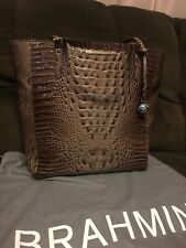 NWT BRAHMIN MELBOURNE COLLECTION VERY LARGE HARRISON TOTE NUTMEG COLOR