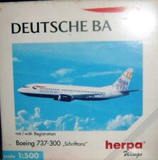 BOEING 737-300 Schrifttanz  DEUTSCHE BA scala 1/500 HERPA (511513)