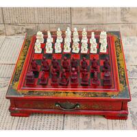Chinois Terracotta Warriors Jeu d'échecs Set Cadeau Amis Famille  +A