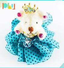 USA Handmade Keychain Cute Bear use Swarovski Crystal Gift Princess Blue key