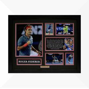 Roger Federer Signed & Framed Memorabilia - Black/Red Limited Edition