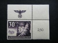 Germany Nazi 1940 Stamp MNH German Peasant Swastika Eagle Generalgouvernement WW