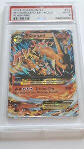 Pokemon 2014 XY Flashfire M Charizard Ex Holo #13 PSA9 Mint