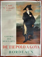 Poster Exhibition Of Tiepolo A Goya Bordeaux Fine Mourlot 19 11/16x26 3/8in