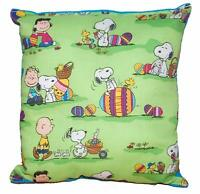Snoopy Pillow Charlie Brown Easter Snoopy Made in USA Happy Easter