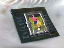 Estate JJ Artifacts 1986 Small Pewter SOCCER MOM Picture Frame Pin Brooch –