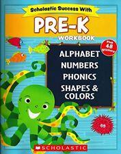 B01FFJ6QEY Scholastic - PRE-K Workbook with Motivational Stickers (Scholastic S
