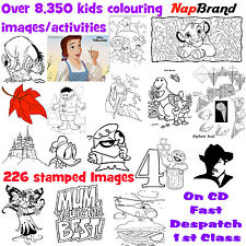 Over 8,350 kids colouring  images/activities & 226 stamped Images