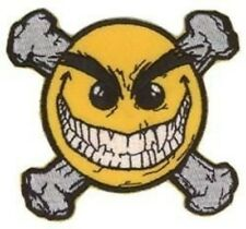 Chaos Comics - Evil Smiley Face Crossbones Embroidery 3.5x3.5 Embroidered PATCH