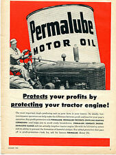 1955 Permalube Motor Oil Ad with International Harvester IH Farmall Tractor