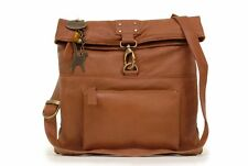 Catwalk Collection Leather Cross-Body Bag - Dispatch - Tan