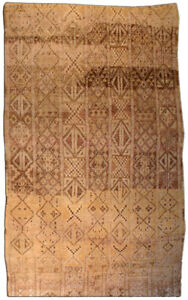 Tribal Hand-knotted Moroccan Rug in Shades of Beige, Brown, and Gold BB3458