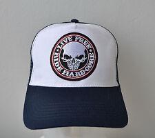 Trucker Cap,Mütze,Hardcore,Navy Blau,Live Free,Biker,Auto,Muscle Car,V8,Harley