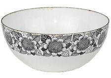 """Kaj Franck for Finel, Finland, Black & White Enamel Sunflower Bowl 8"""" Diameter"""