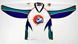 VTG ORLANDO SOLAR BEARS BLANK SP JERSEY ECHL IHL HOCKEY SEWN PURPLE MEN SMALL