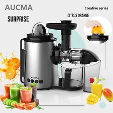 AUCMA Cold Press Slow Juicer Fruit Vegetable Juicer Extractor Citrus Juice Maker