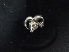 VINTAGE STERLING SILVER ARIES RAM ZODIAC RING SIZE 11.75