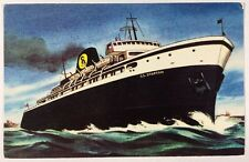 S.S. Spartan Queen of the Great Lakes Steamer Ship Boat Chrome Postcard Unused