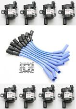 Blue 8.5mm Spark Plug Wires Coil Packs 2001-2007 Chevy GMC 8.1L Vortec V8