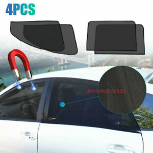 4X Magnetic Car Window Sun Shade Cover Mesh Shield UV Protection Car Accessories