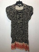 Anna Sui Womens Dress Sz M 100% Silk F